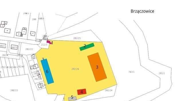 Działka inwestycyjna pod dzierżawę Brzączowice, Brzączowice 1  22100m2 Foto 3