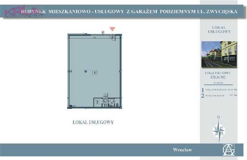 Lokal użytkowy na sprzedaż Wrocław, Krzyki, Zwycięska  130m2 Foto 1