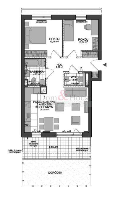 Mieszkanie trzypokojowe na sprzedaż Gdynia, Chylonia, Chylońska  65m2 Foto 3