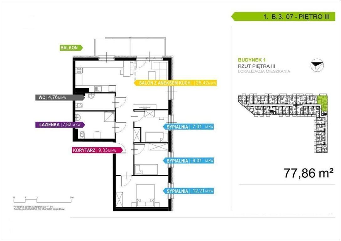 Mieszkanie czteropokojowe  na sprzedaż Warszawa, Ursus, Skorosze, Dzieci Warszawy  81m2 Foto 5