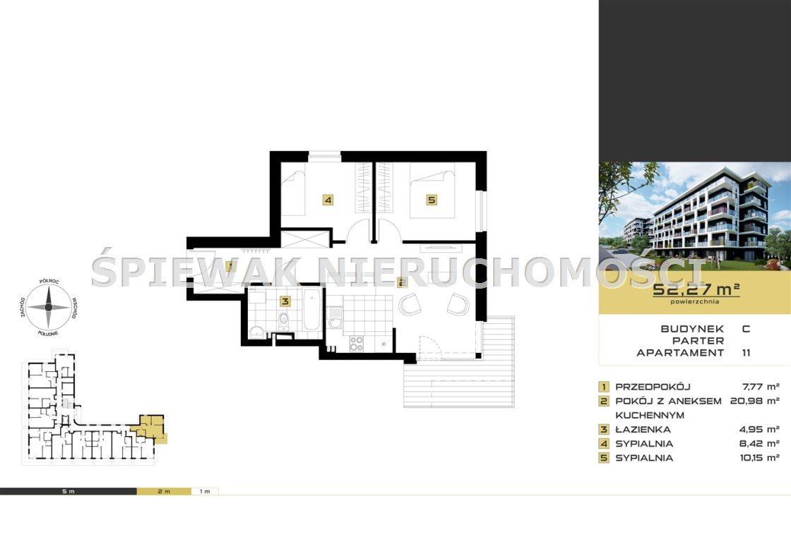 Mieszkanie trzypokojowe na sprzedaż Bielsko-Biała, Sarni Stok  52m2 Foto 2