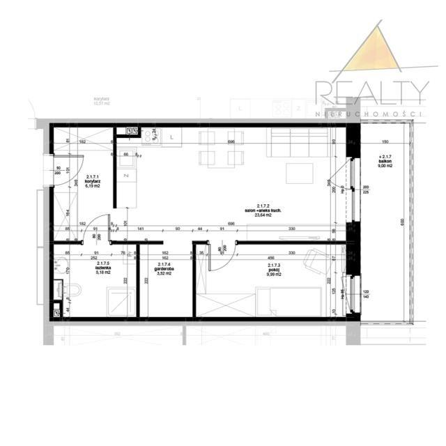 Mieszkanie dwupokojowe na sprzedaż Leszno, Ogrody  48m2 Foto 3