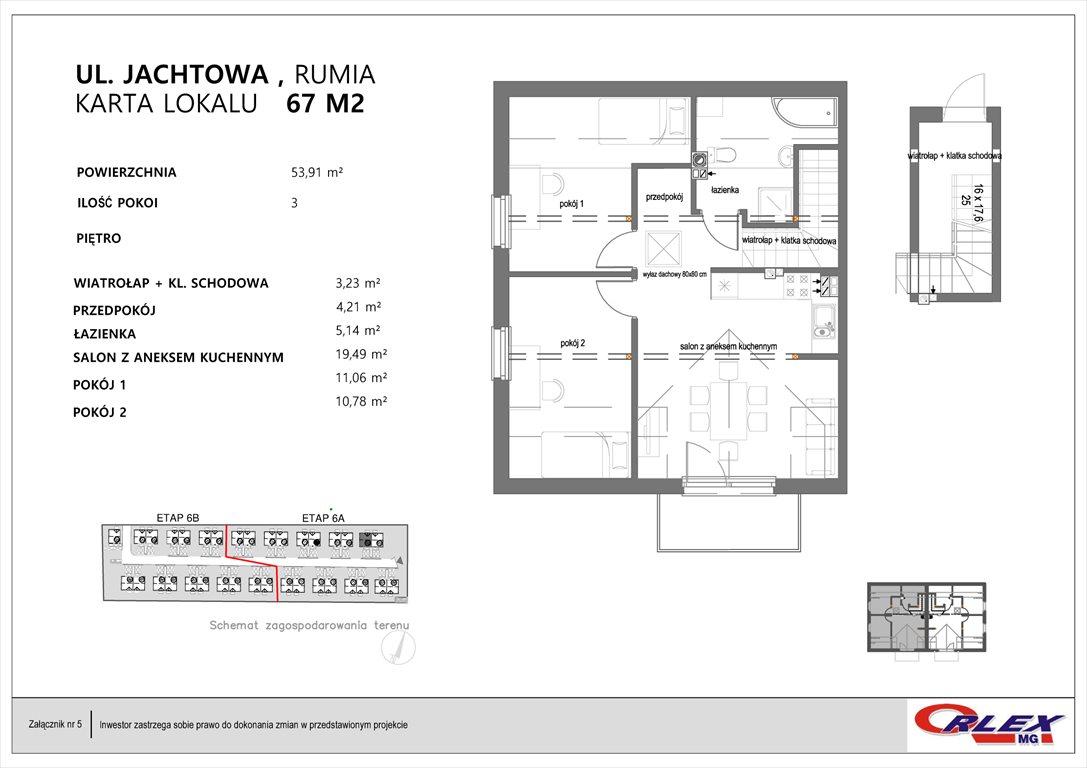Mieszkanie trzypokojowe na sprzedaż Rumia, JACHTOWA 101-131  54m2 Foto 7