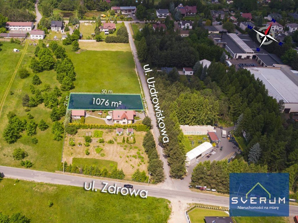 Działka budowlana na sprzedaż Częstochowa, Dźbów, Uzdrowiskowa  1076m2 Foto 6