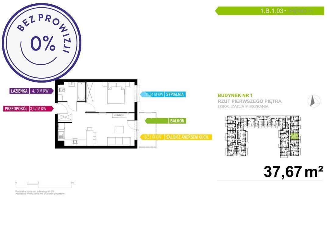 Mieszkanie dwupokojowe na sprzedaż Mikołów, Reta Śmiłowicka, Storczyków  38m2 Foto 2