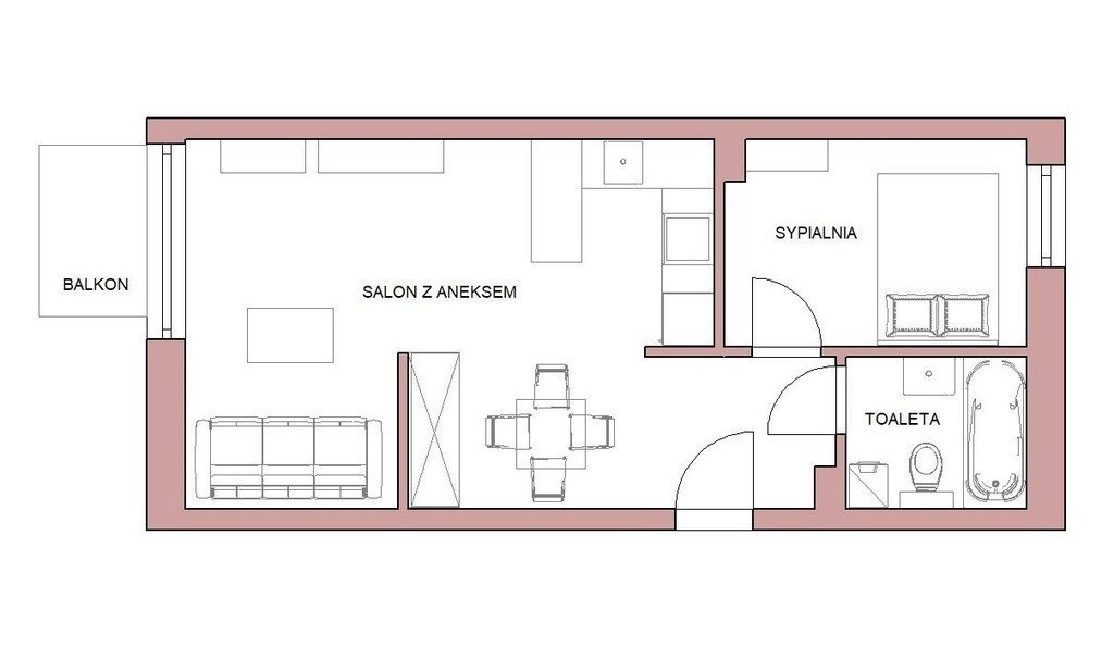 Mieszkanie dwupokojowe na wynajem Poznań, Grunwald, Grunwaldzka  42m2 Foto 12