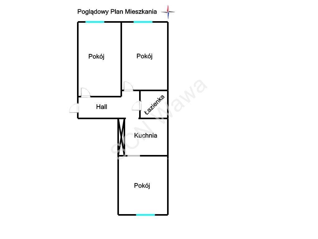 Mieszkanie trzypokojowe na sprzedaż Warszawa, Praga-Południe, Dwernickiego  43m2 Foto 11