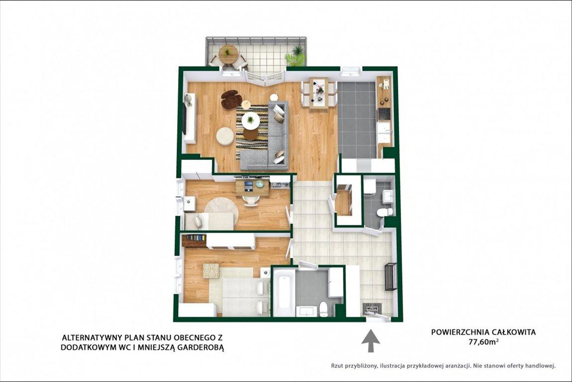 Mieszkanie trzypokojowe na sprzedaż Ząbki, Podleśna  77m2 Foto 11