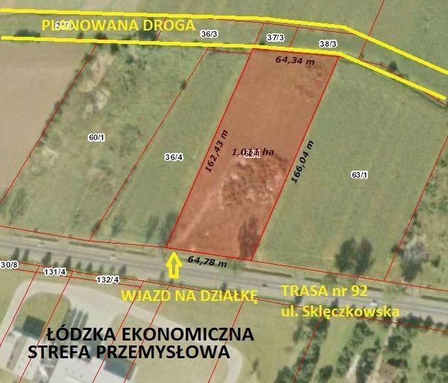 Działka przemysłowo-handlowa na sprzedaż Kutno, Sklęczkowska  10132m2 Foto 4