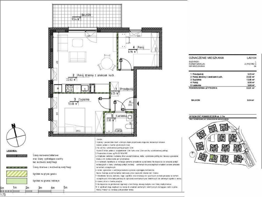 Mieszkanie trzypokojowe na sprzedaż Wrocław, Psie Pole, Kwidzyńska  54m2 Foto 2