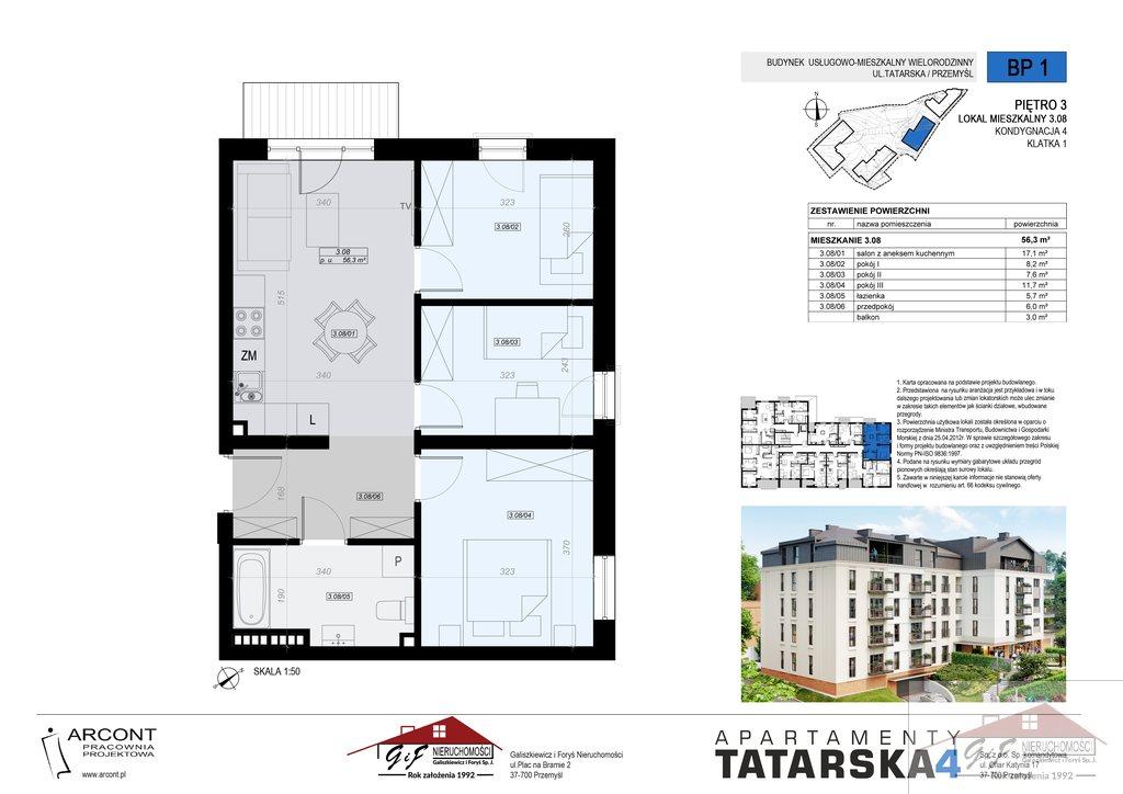 Mieszkanie czteropokojowe  na sprzedaż Przemyśl, Tatarska  56m2 Foto 8