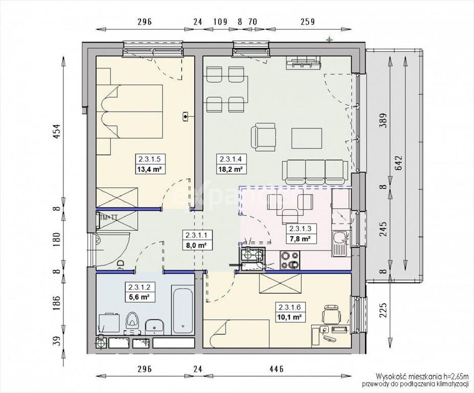 Mieszkanie trzypokojowe na sprzedaż Wrocław, Swojczyce, Krzysztofa Kolumba  63m2 Foto 10