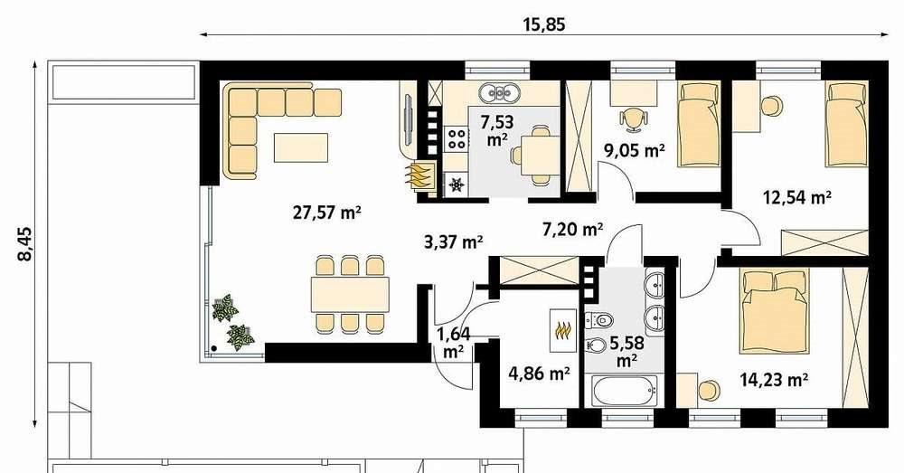 Dom na sprzedaż Niedrzwica Duża  94m2 Foto 2
