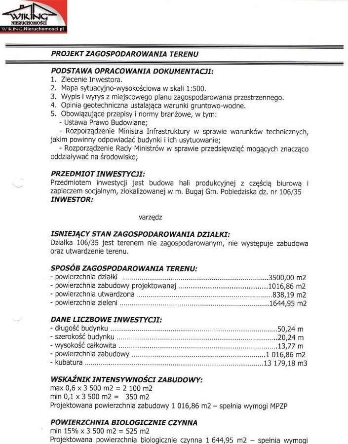 Działka przemysłowo-handlowa na sprzedaż Bugaj, Jasińska  3500m2 Foto 9