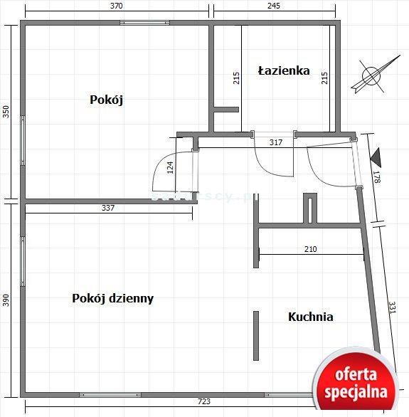 Mieszkanie dwupokojowe na sprzedaż Kraków, Dębniki, Kliny, Babinicza  51m2 Foto 3