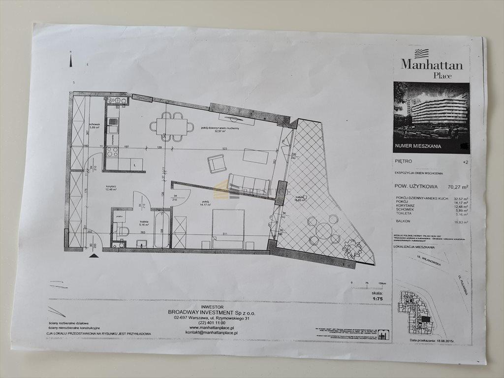 Mieszkanie dwupokojowe na sprzedaż Warszawa, Mokotów, Górny Mokotów, Wita Stwosza  70m2 Foto 7