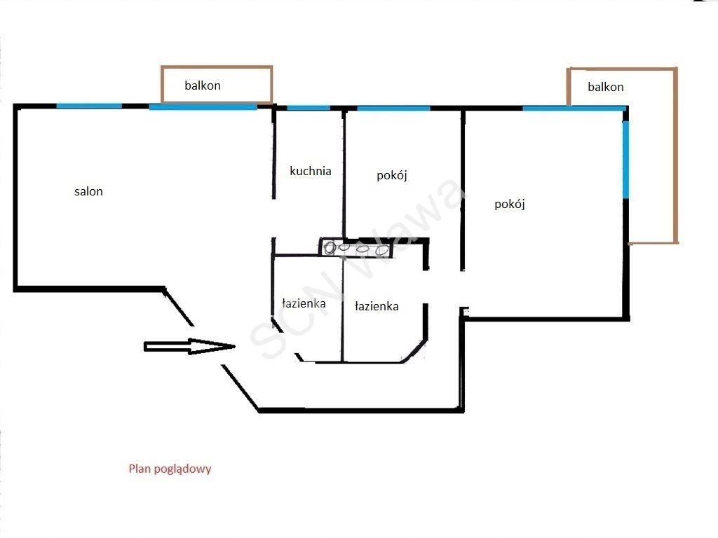 Mieszkanie trzypokojowe na sprzedaż Warszawa, Bielany, Grodeckiego  68m2 Foto 10