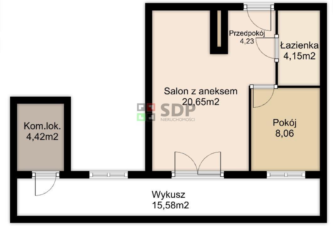 Mieszkanie dwupokojowe na sprzedaż Wrocław, Stare Miasto, Szczepin, Długa  38m2 Foto 3