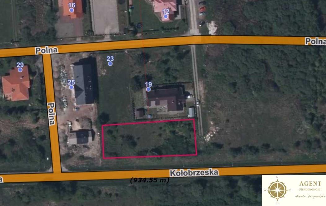Działka budowlana na sprzedaż Grzybowo, Polna  1624m2 Foto 2