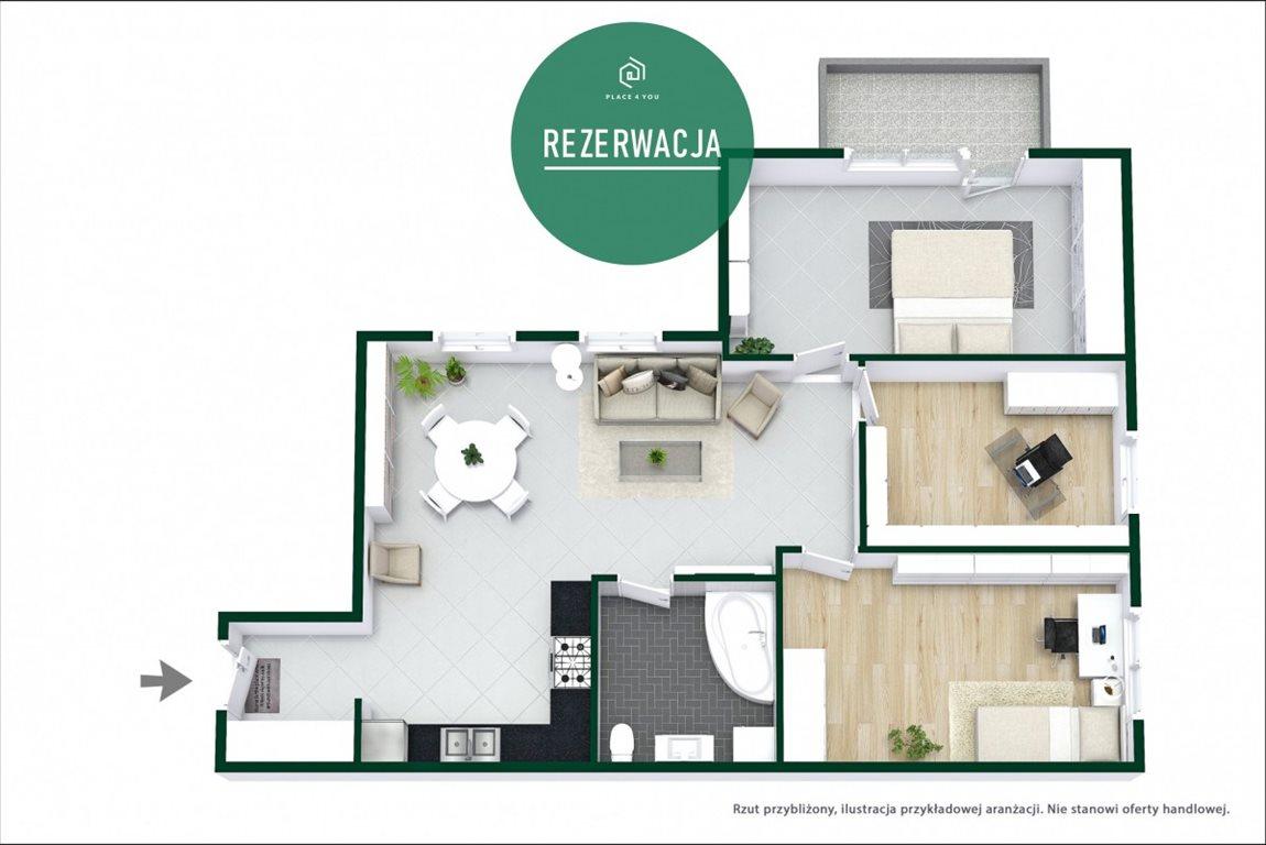Mieszkanie czteropokojowe  na sprzedaż Warszawa, Praga-Południe Gocław, Stanisława Rogalskiego  82m2 Foto 12