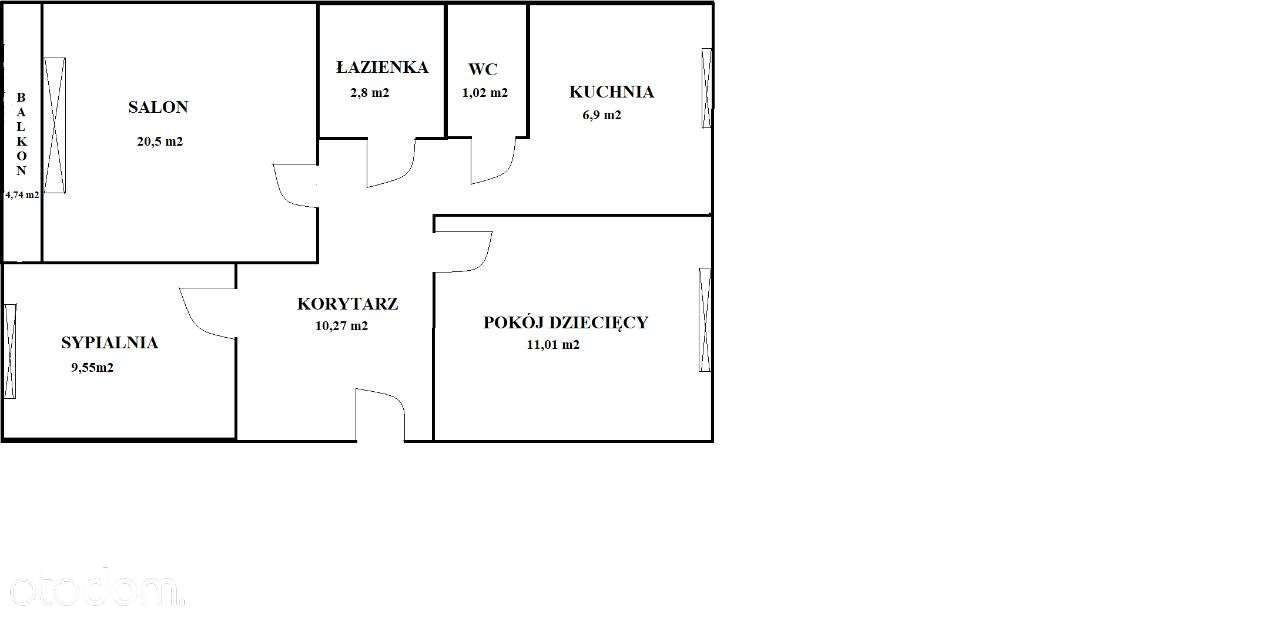 Mieszkanie trzypokojowe na sprzedaż Łódź, Bałuty, Radogoszcz Wschód, Wiankowa 9  62m2 Foto 11