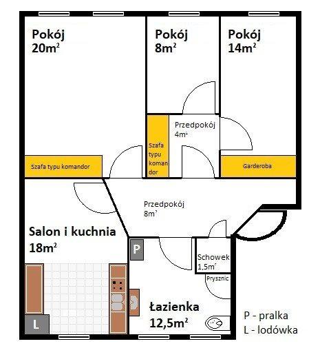 Mieszkanie czteropokojowe  na sprzedaż Szczecin, Centrum  86m2 Foto 12