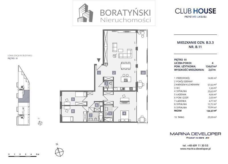 Mieszkanie czteropokojowe  na sprzedaż Szczecin, Dąbie, Dąbie, Przestrzenna  135m2 Foto 4