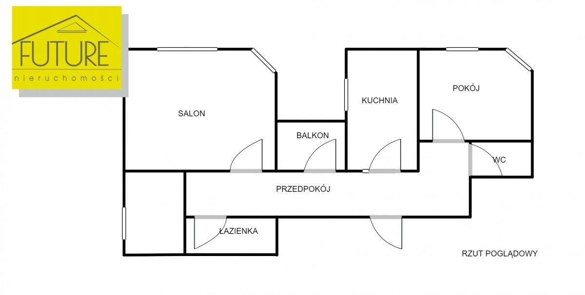 Mieszkanie trzypokojowe na sprzedaż Elbląg, Robotnicza  75m2 Foto 3