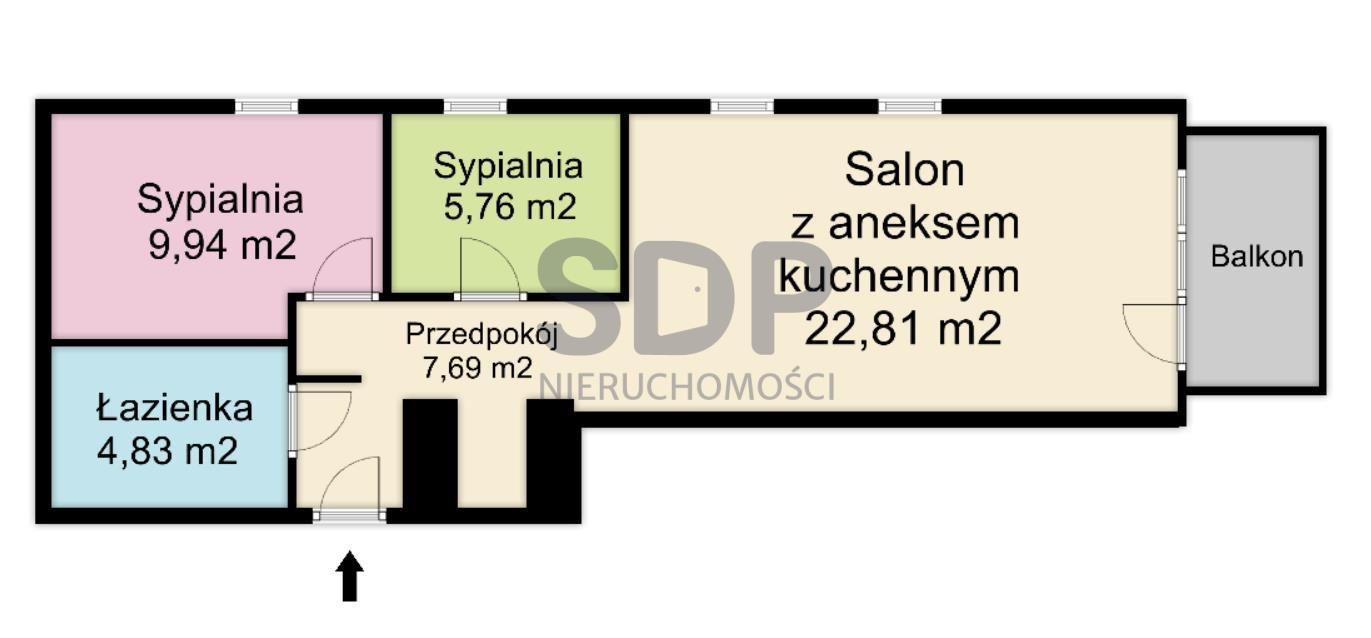 Mieszkanie trzypokojowe na sprzedaż Wrocław, Krzyki, Klecina, Dożynkowa  51m2 Foto 2