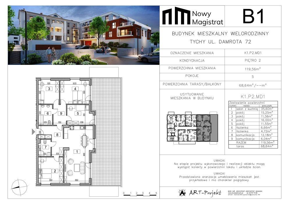 Mieszkanie na sprzedaż Tychy, Stare Tychy, Damrota 72  120m2 Foto 2