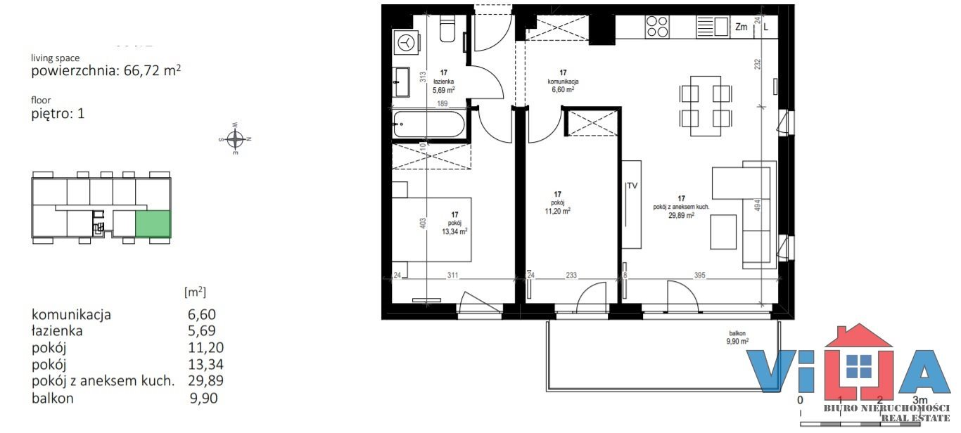 Mieszkanie trzypokojowe na sprzedaż Zielona Góra, os. Zdrojowe  67m2 Foto 2