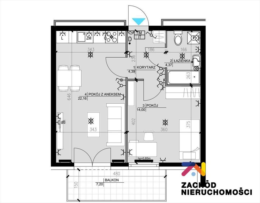 Mieszkanie trzypokojowe na sprzedaż Zielona Góra, Osiedle Śląskie  57m2 Foto 11