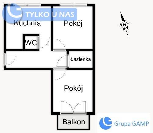 Mieszkanie dwupokojowe na wynajem Kraków, Nowa Huta, os. Szkolne  50m2 Foto 10