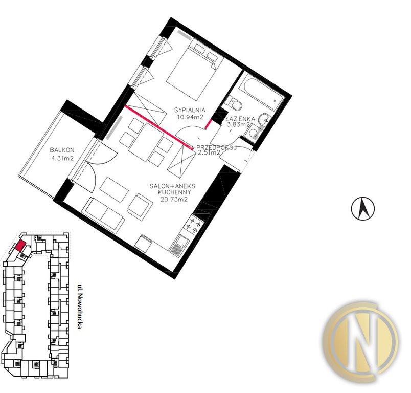 Mieszkanie dwupokojowe na sprzedaż Kraków, Czyżyny, Czyżyny, Nowohucka  40m2 Foto 11