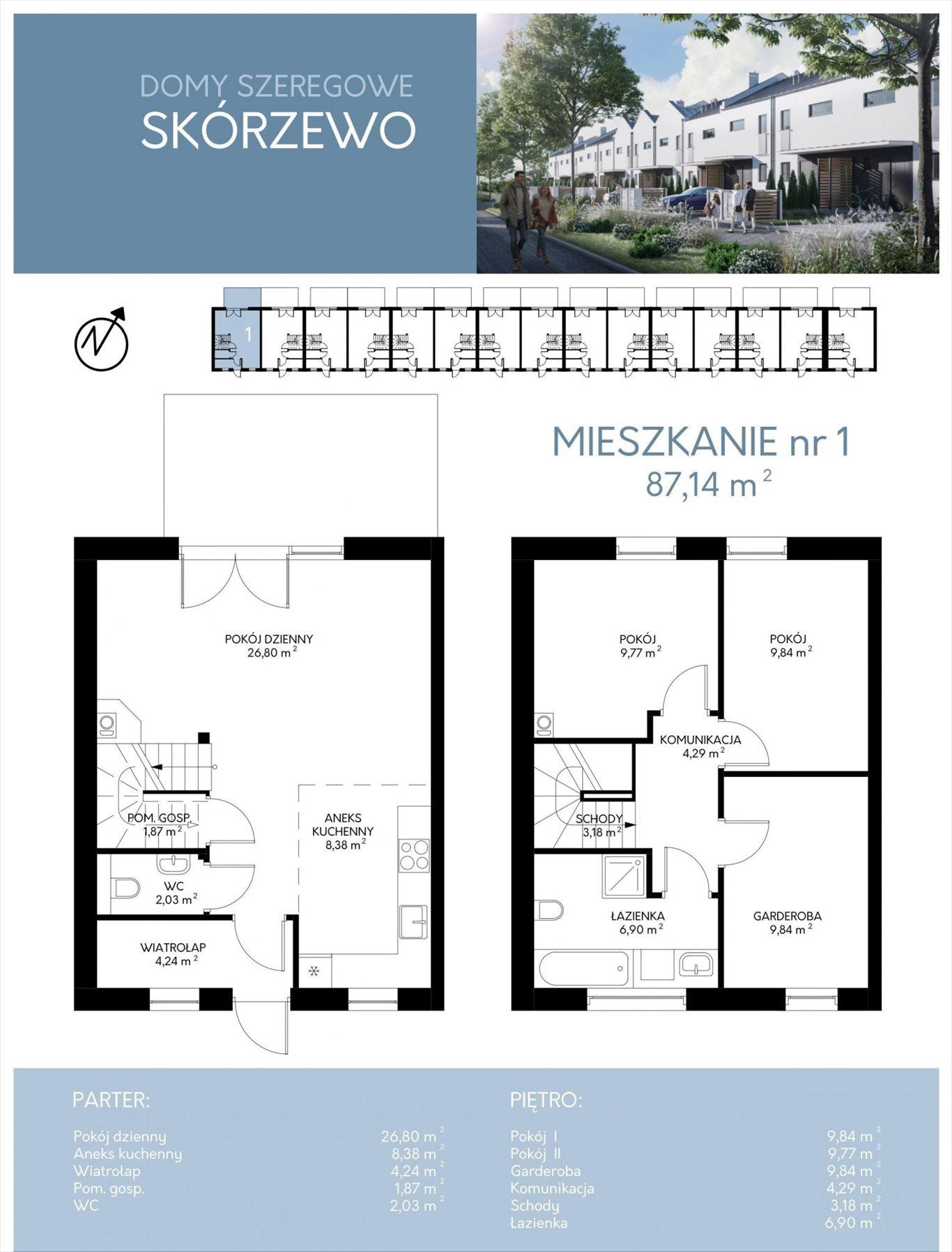 Dom na sprzedaż Skórzewo, Promienna  87m2 Foto 6
