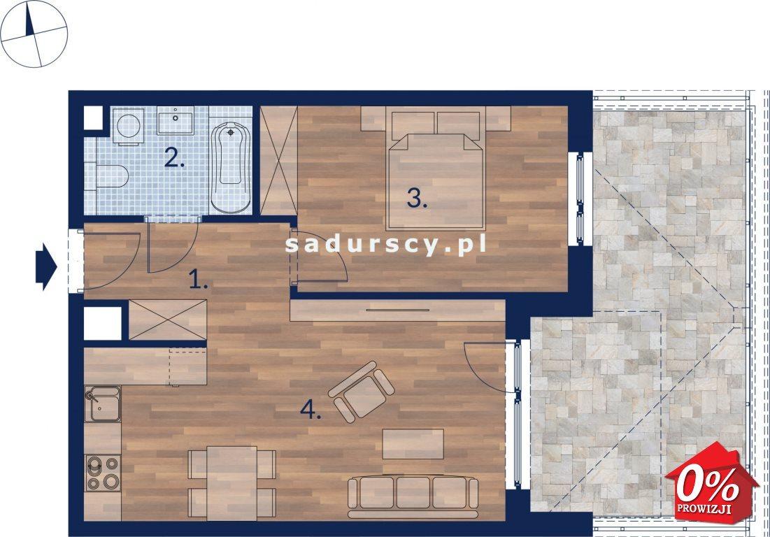 Mieszkanie dwupokojowe na sprzedaż Kraków, Podgórze, Płaszów, Saska -  okolice  45m2 Foto 4