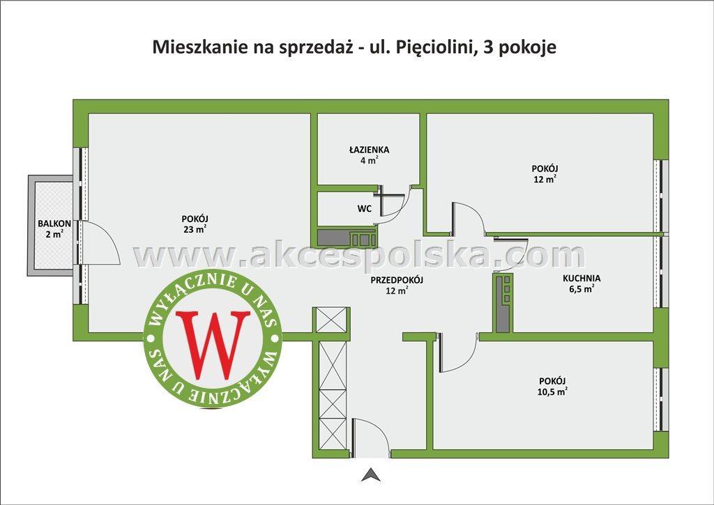 Mieszkanie trzypokojowe na sprzedaż Warszawa, Ursynów, Pięciolinii  69m2 Foto 1