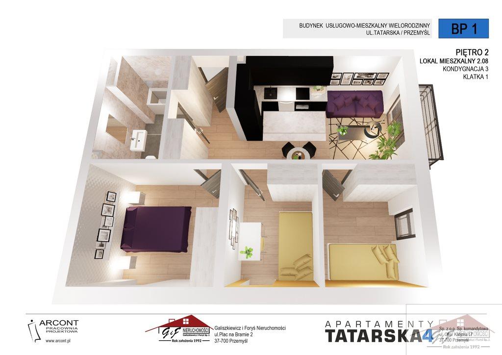 Mieszkanie czteropokojowe  na sprzedaż Przemyśl, Tatarska  56m2 Foto 4