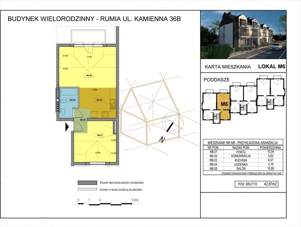 Mieszkanie dwupokojowe na sprzedaż Rumia, Kamienna  43m2 Foto 2