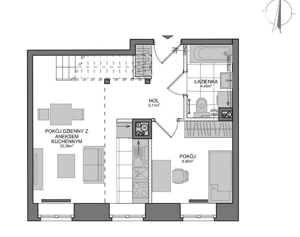 Mieszkanie dwupokojowe na sprzedaż Gdańsk, Wrzeszcz, Adama Mickiewicza  69m2 Foto 5