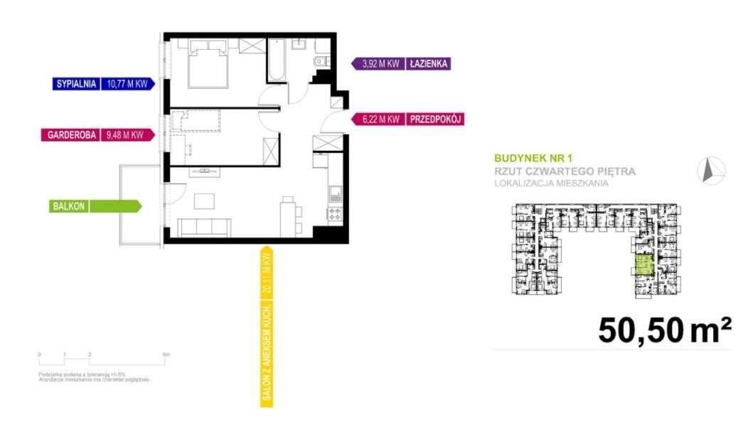 Mieszkanie dwupokojowe na sprzedaż Mikołów  49m2 Foto 4