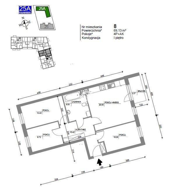 Mieszkanie czteropokojowe  na sprzedaż Bydgoszcz, Bartodzieje Wielkie, Kazimierza Pułaskiego  69m2 Foto 7