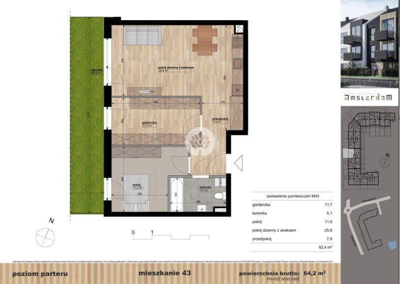 Mieszkanie trzypokojowe na sprzedaż Bydgoszcz, Siedlecka  64m2 Foto 1