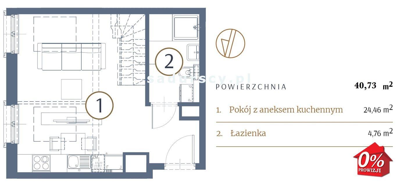 Mieszkanie dwupokojowe na sprzedaż Kraków, Stare Miasto, Kleparz, Sławkowska - okolice  41m2 Foto 3