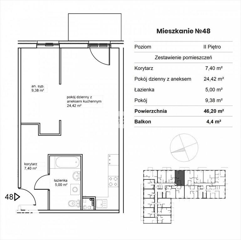 Mieszkanie dwupokojowe na sprzedaż Bydgoszcz, Śródmieście, Garbary  46m2 Foto 2