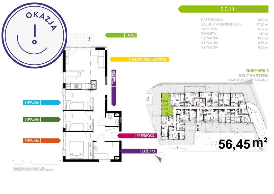 Mieszkanie czteropokojowe  na sprzedaż Gliwice, Stare Gliwice, Kozielska  56m2 Foto 2