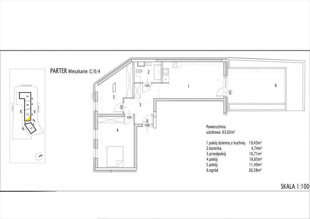 Mieszkanie trzypokojowe na sprzedaż Siechnice  63m2 Foto 1