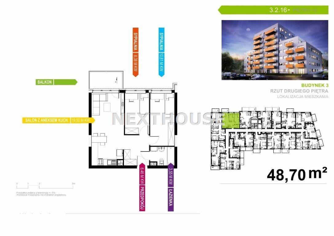 Mieszkanie trzypokojowe na sprzedaż Gliwice, Śródmieście  49m2 Foto 4