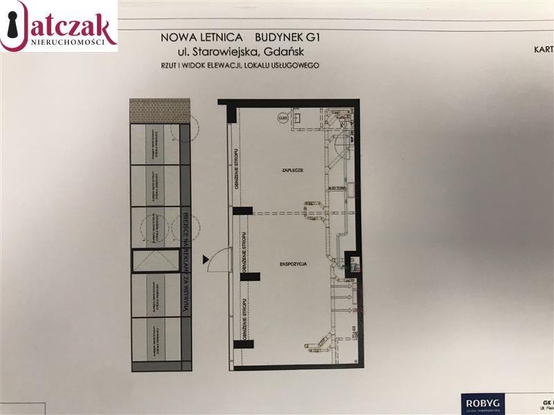 Lokal użytkowy na wynajem Gdańsk, Letnica, NOWA LETNICA, STAROWIEJSKA  81m2 Foto 1
