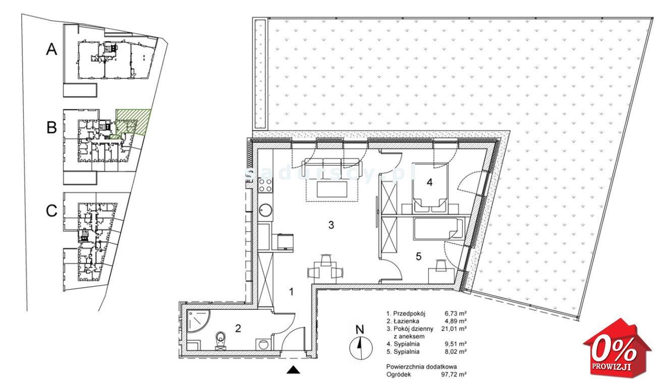 Mieszkanie trzypokojowe na sprzedaż Kraków, Podgórze, Płaszów, Saska - okolice  50m2 Foto 3